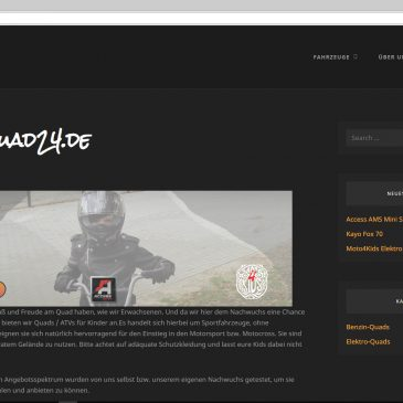 eigene Website Kinderquad24