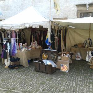 unser zweiteilige Marktstand in Allstedt 2014