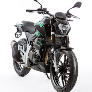 Rivero Monza 125 grün/schwarz schräg vorn