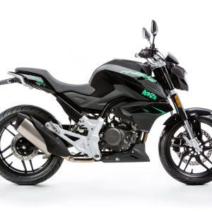 Rivero Monza 125 grün/schwarz rechte Seite